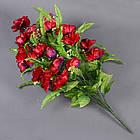 Роза бутон с папоротником NC-27/36 (7 шт./уп.) Искусственные цветы оптом, фото 6
