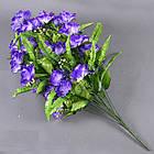 Роза бутон с папоротником NC-27/36 (7 шт./уп.) Искусственные цветы оптом, фото 7