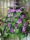 Роза бутон с папоротником NC-27/36 (7 шт./уп.) Искусственные цветы оптом, фото 8