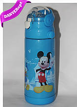 Термос детскии MIKKI школьный с трубочкой для мальчиков 350 ml, купить оптом со склада Одесса 7км