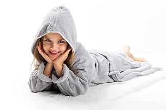 Детский халат Graccioza Bee Waffle Серебро, 4-5, 6-7 лет