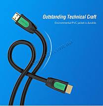 HDMI кабель Ugreen HD101 с поддержкой FullHD/4K/3D video resolution, многоканальный звук 5.1/7.1, фото 2