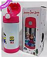Термос детский MINIONS школьный с трубочкой для девочек 350 ml, купить оптом со склада Одесса 7км, фото 2