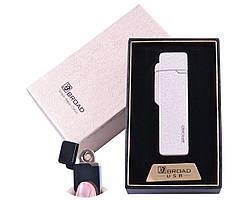 """USB зажигалка в подарочной упаковке """"BROAD"""" (Двухсторонняя спираль накаливания)  Белый матовый"""