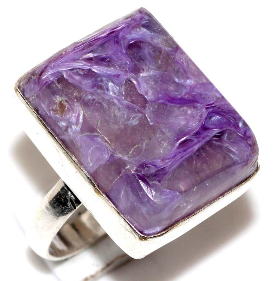 Чароит кольцо с чароитом 17,3 размер. Кольцо с камнем чароит. Индия
