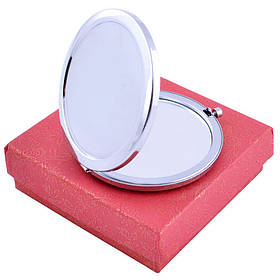 Зеркальце косметическое карманное под гравировку 538-7