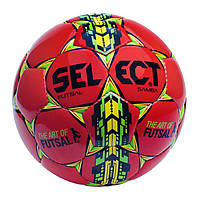 Мяч футзальный №4 SELECT FUTSAL SAMBA-R (красный-зеленый-желтый)
