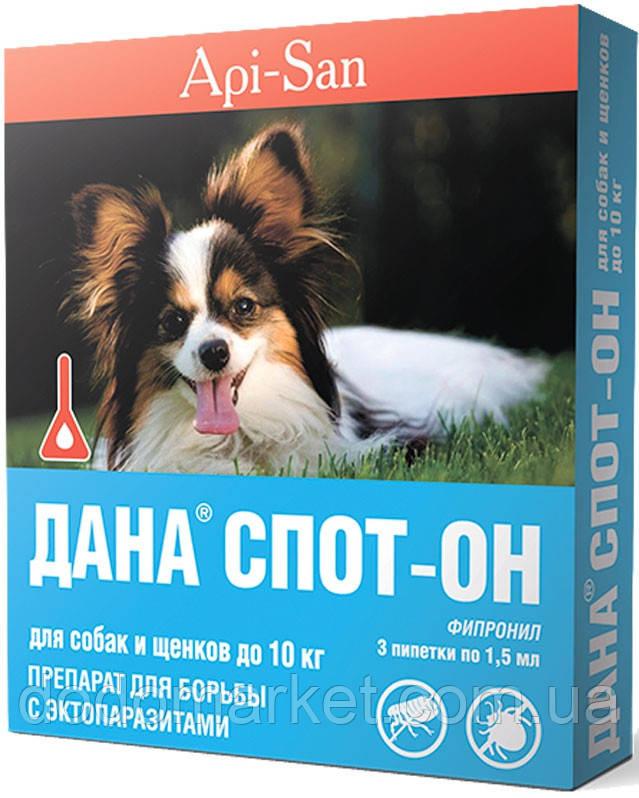 Дана Стоп-Він краплі для собак і цуценят до 10 кг (4 піпетки по 1,5 мл)
