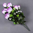 Букет розы NА-062/10 (14 шт./ уп.) Искусственные цветы оптом, фото 6