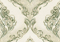 Обои Lanita на бумажной основе Сержио декор ВКП 3-0853 зелено-золотистый 0.53х10.05 м (ob103374)