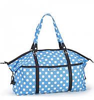 Летняя женская сумочка в горошек Dolly 084 голубая