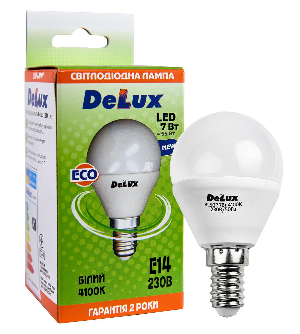 Комплект светодиодных ламп DELUX BL50P 7 Вт 2700K (4100K) 220 В E14 (8 шт)