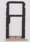 Лоток для сим карты и карты памяти для Meizu M5c (M710H), золотистый