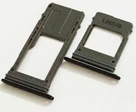 Лоток для сим и карты памяти для Samsung A530F Galaxy A8 Duos 2018A730F черный на одну Sim-карту комплект 2 шт