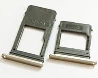 Лоток для сим карты и карты памяти для Samsung A530F Galaxy A8 Duos золотистый на две Sim-карты комплект 2 шт.