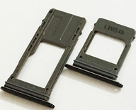 Лоток для сим карты и карты памяти для Samsung A530F Galaxy A8 Duos 2018 черный на две Sim-карты комплект 2 шт.