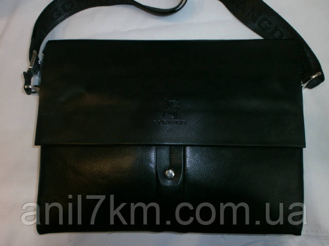 Мужская сумка через плечо для денег и документов