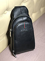Мужской слинг, сумка через плече Gucci кожа