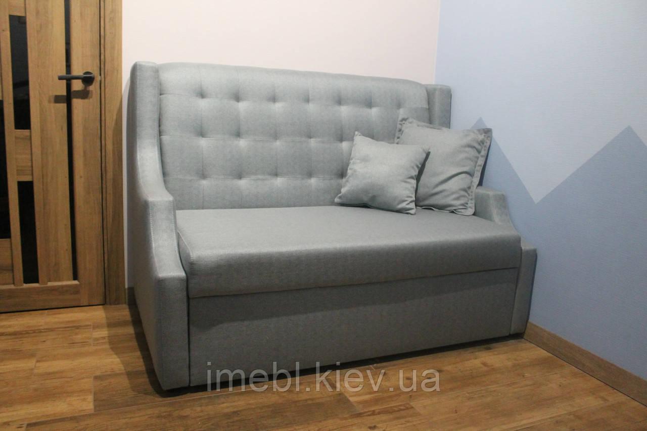 Компактный кухонный диван со спальным местом (Серый)