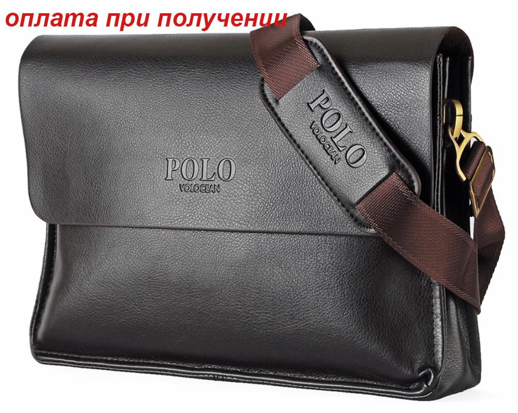 Чоловіча чоловіча ділова шкіряна сумка портфель формат А4 А4 POLO ОРИГІНАЛ