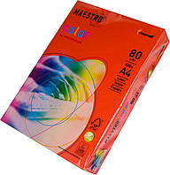 Бумага А4 Maestro Color CO44 кораллово-красный