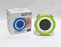 Электронный будильник зеленый GOTIE GBE-200 Z настольный, фото 1