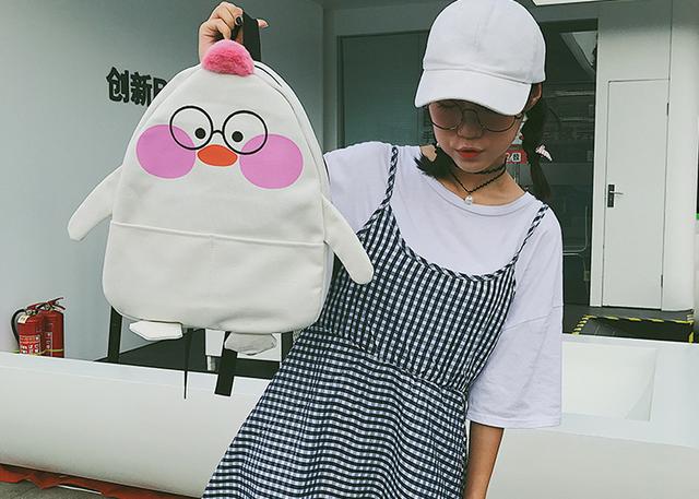 Рюкзак девчачий белый Цыплёнок