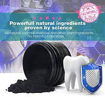 Кокосовий порошок для відбілювання зубів Bellamei органіка чорний, фото 3
