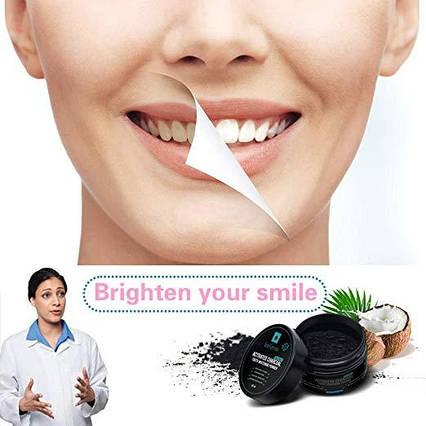 Кокосовый порошок для отбеливания зубов Bellamei органика черный, фото 2