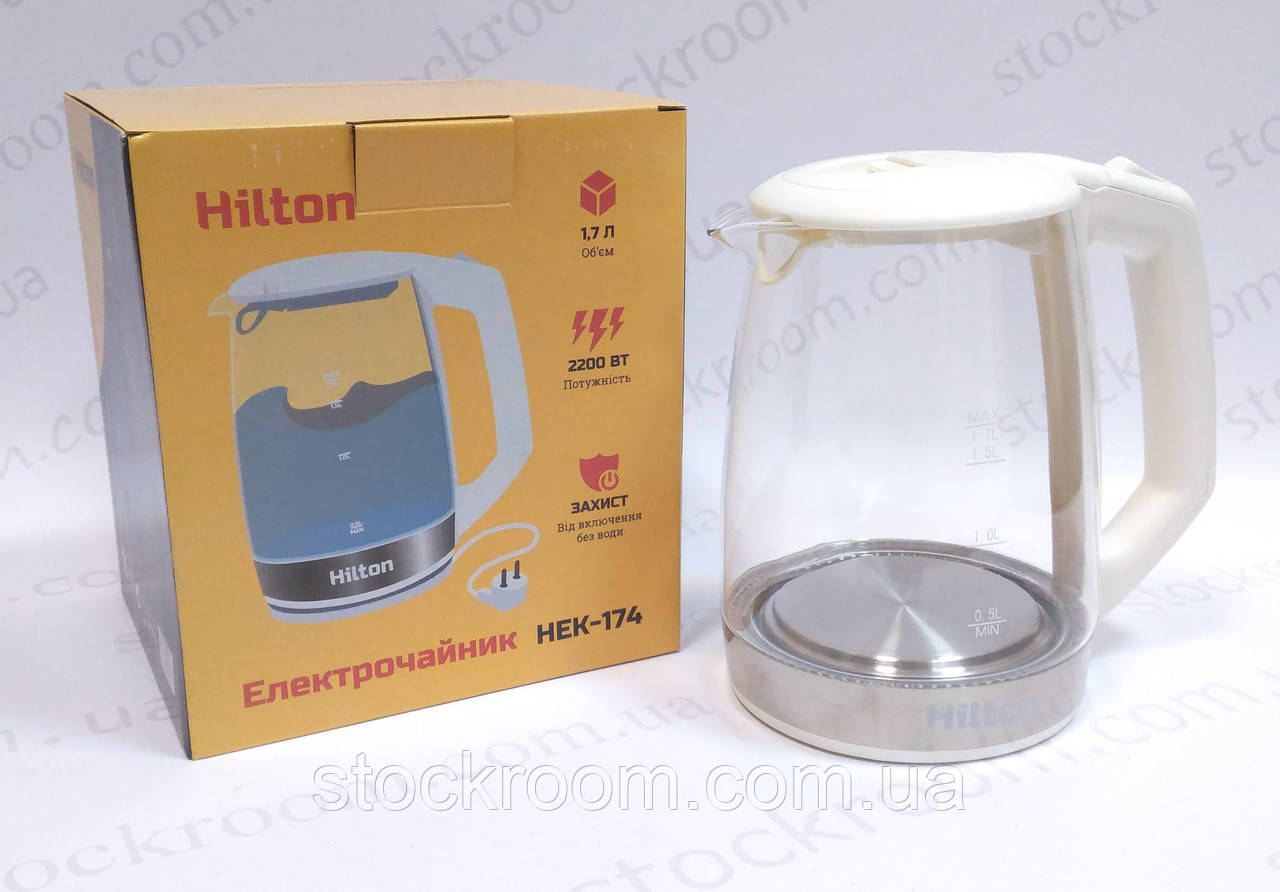 Чайник электрический Hilton HEK 174 стеклянный 1.7 л