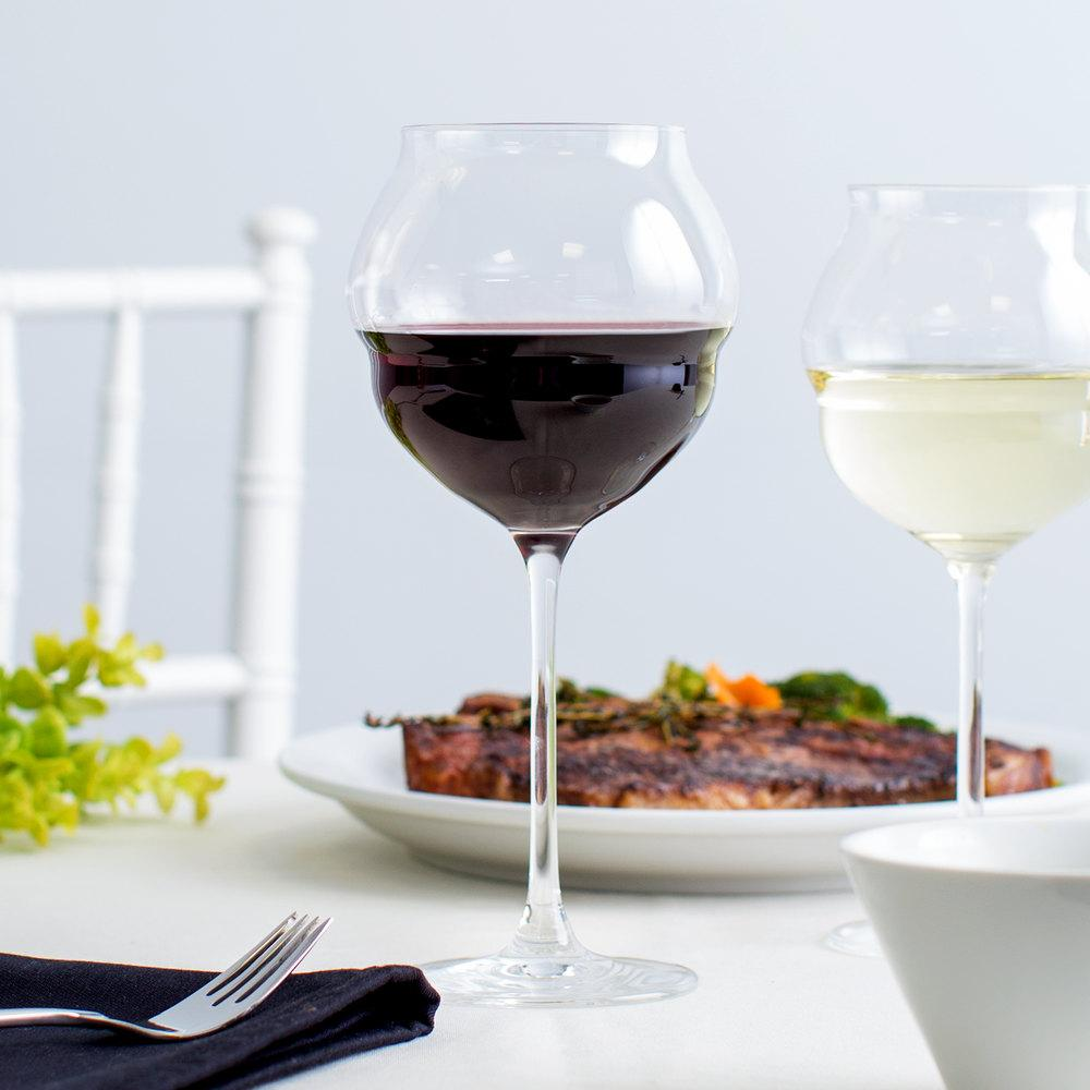 Бокал для вина 500 мл. на ножке, стеклянный Macaron, Chef&Sommelier