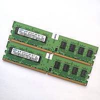 Оперативная память Samsung DDR2 4Gb (2Gb+2Gb) 800MHz PC2 6400U CL6 (M378T5663EH3-CF7) Б/У, фото 1