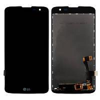 Дисплей для LG K7 X210 / K7 X210DS версия 3G, модуль в сборе (экран и сенсор), черный, оригинал