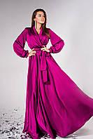 Вечернее шёлковое платье в пол Shine, фото 1