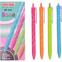 Ручка шариковая BP-322 JOYKO 12 штук, синяя