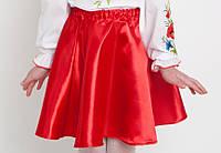 Червона атласна спідниця дитяча, арт. 0097