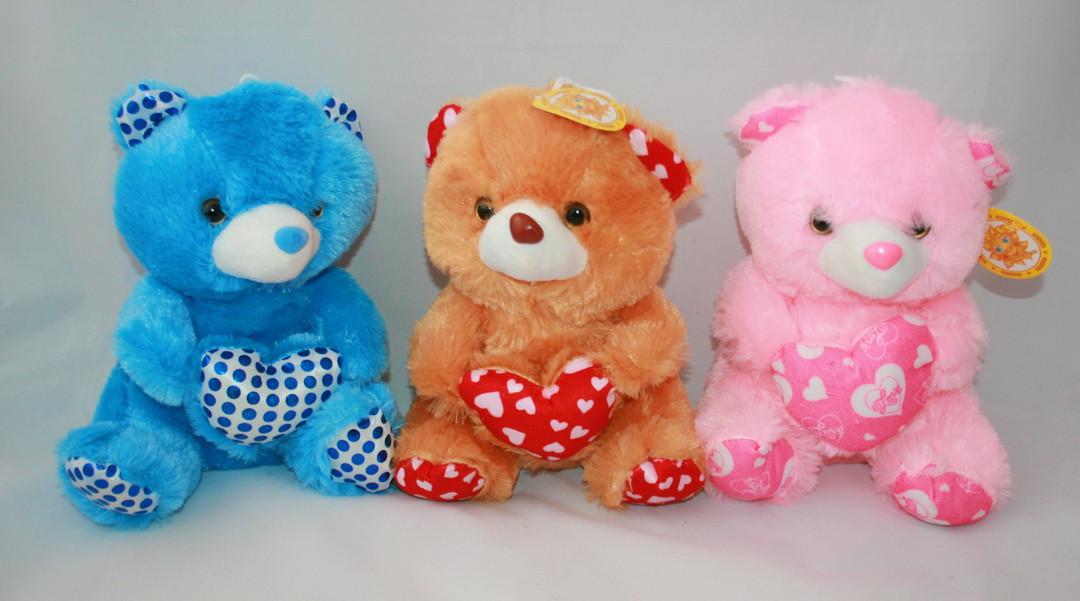 """Игрушка мягкая """"Медведь с сердцем"""" 24см"""