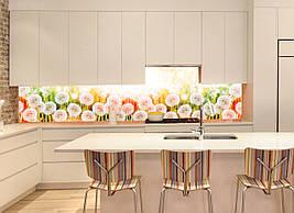 Кухонний фартух Кульбаби кульбабки фотодрук наклейка на стінну панель для кухні квіти 600*2500 мм