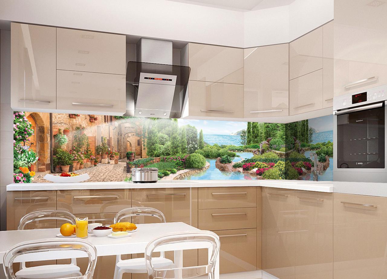 Кухонный фартук Отдых (Відпочинок), (полноцветная фотопечать, наклейка на стеновую панель для кухни, природа, пейзаж)600*2500 мм
