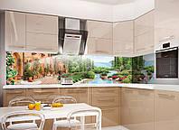 Кухонный фартук Отдых (Відпочинок), (полноцветная фотопечать, наклейка на стеновую панель для кухни, природа, пейзаж)600*2500 мм, фото 1