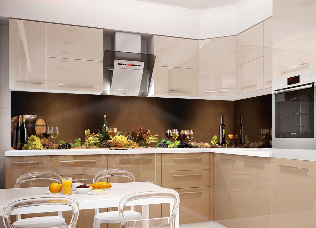 Кухонный фартук Натюрморт, (полноцветная фотопечать, наклейка на стеновую панель для кухни, абстракция)600*2500 мм