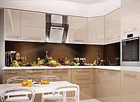 Кухонный фартук Натюрморт, (полноцветная фотопечать, наклейка на стеновую панель для кухни, абстракция)600*2500 мм, фото 1