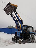 Погрузчик фронтальный универсальный КУН  для погрузки грузов на трактор МТЗ,ЮМЗ