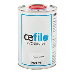 Жидкий герметик для уплотнения швов ПВХ Cefil PVC Transparente прозрачный 1л