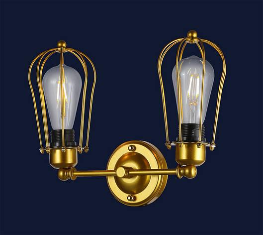 Бра настенное золотого цвета в стиле лофт 756PR9540-2 GD, фото 2