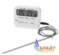 Цифровой термометр таймер ТА278 для духовки с выносным датчиком до 300 градусов (нержавейка)
