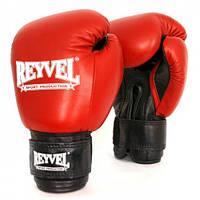 REYVEL  Перчатки боксёрские  кожа + винил  10 OZ