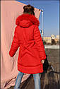Пальто детское зимнее Вики- 2 ТМ Нуи Вери - Размеры 116 - 158 Натуральный мех песца, фото 2