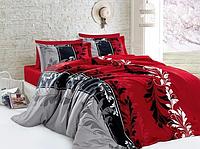 """Полуторный комплект постельного белья """"Витражи красные"""""""
