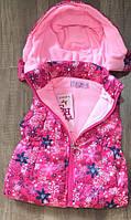 Цветная жилетка безрукавка для девочки р 3-4 года, Венгрия, Taurus DL-513